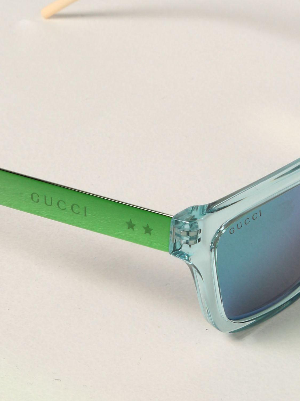 Occhiali Gucci: Occhiali da sole Gucci in acetato verde 4