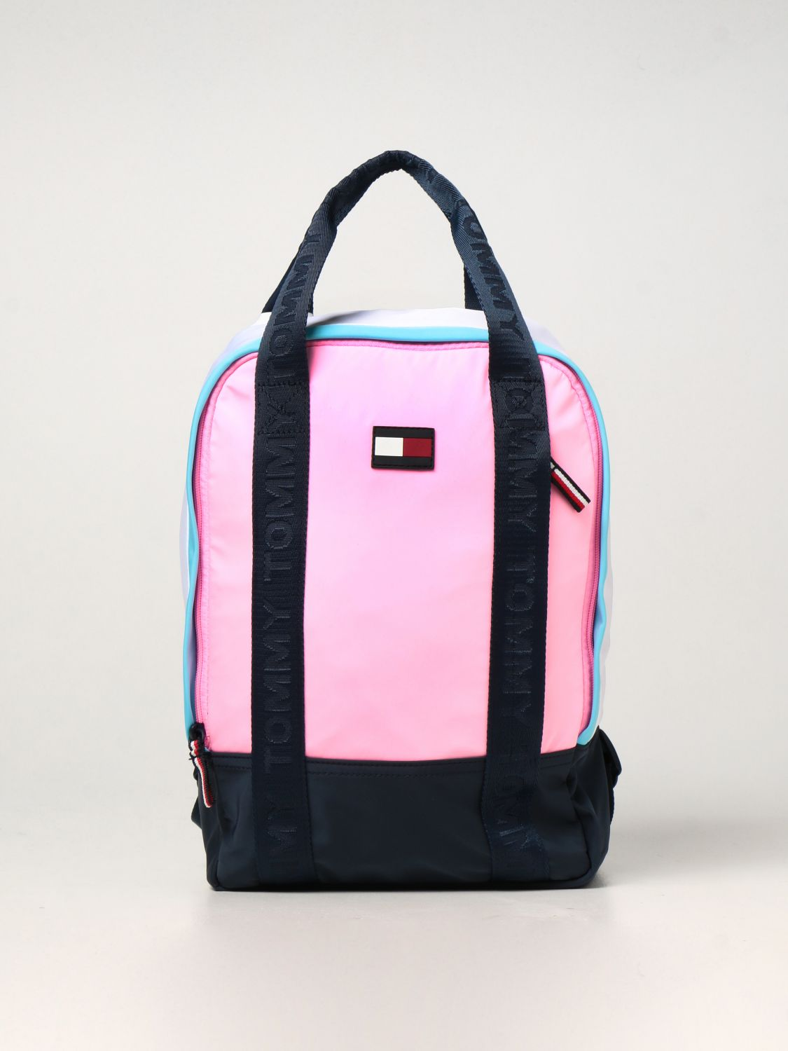 Duffel Bag Tommy Hilfiger: Tommy Hilfiger backpack in recycled polyester pink 1