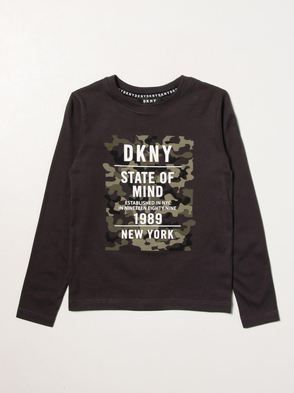 T-shirt Dkny: Dkny T-shirt with big logo grey 1