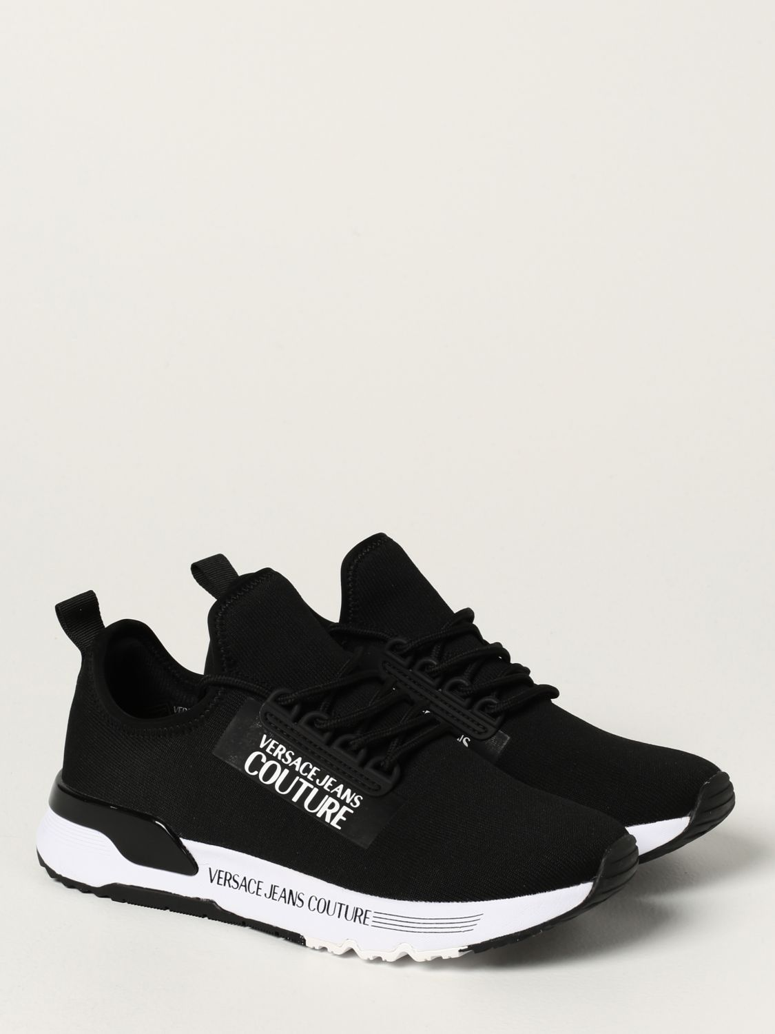 Sneakers Versace Jeans Couture: Sneakers Versace Jeans Couture in maglia nero 2