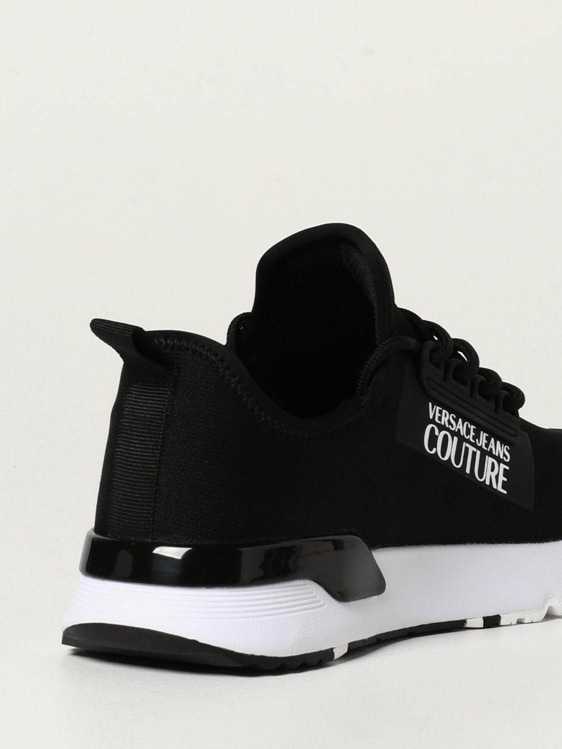Sneakers Versace Jeans Couture: Sneakers Versace Jeans Couture in maglia nero 3