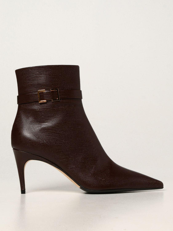 高跟裸靴 Sergio Rossi: 靴子 女士 Sergio Rossi 棕色 1