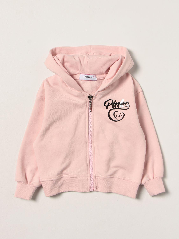 Maglia Pinko: Felpa con zip Pinko in cotone cipria 1