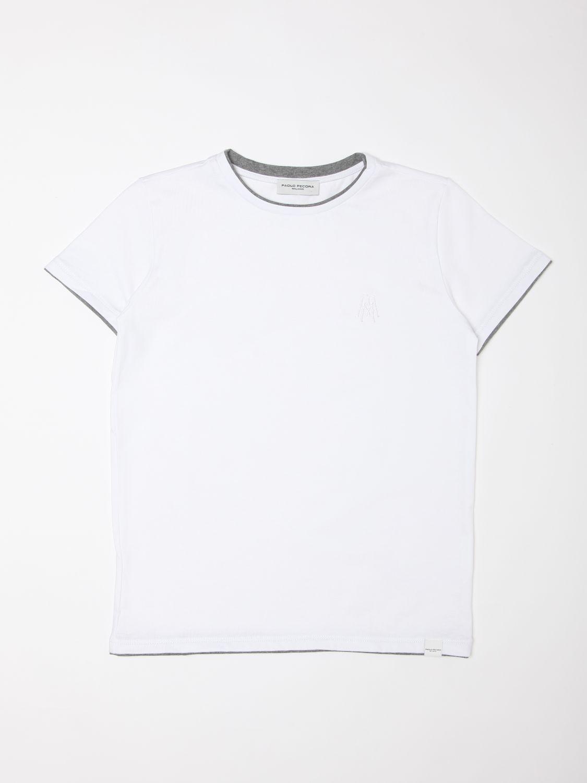 T-shirt Paolo Pecora: T-shirt enfant Paolo Pecora blanc 1