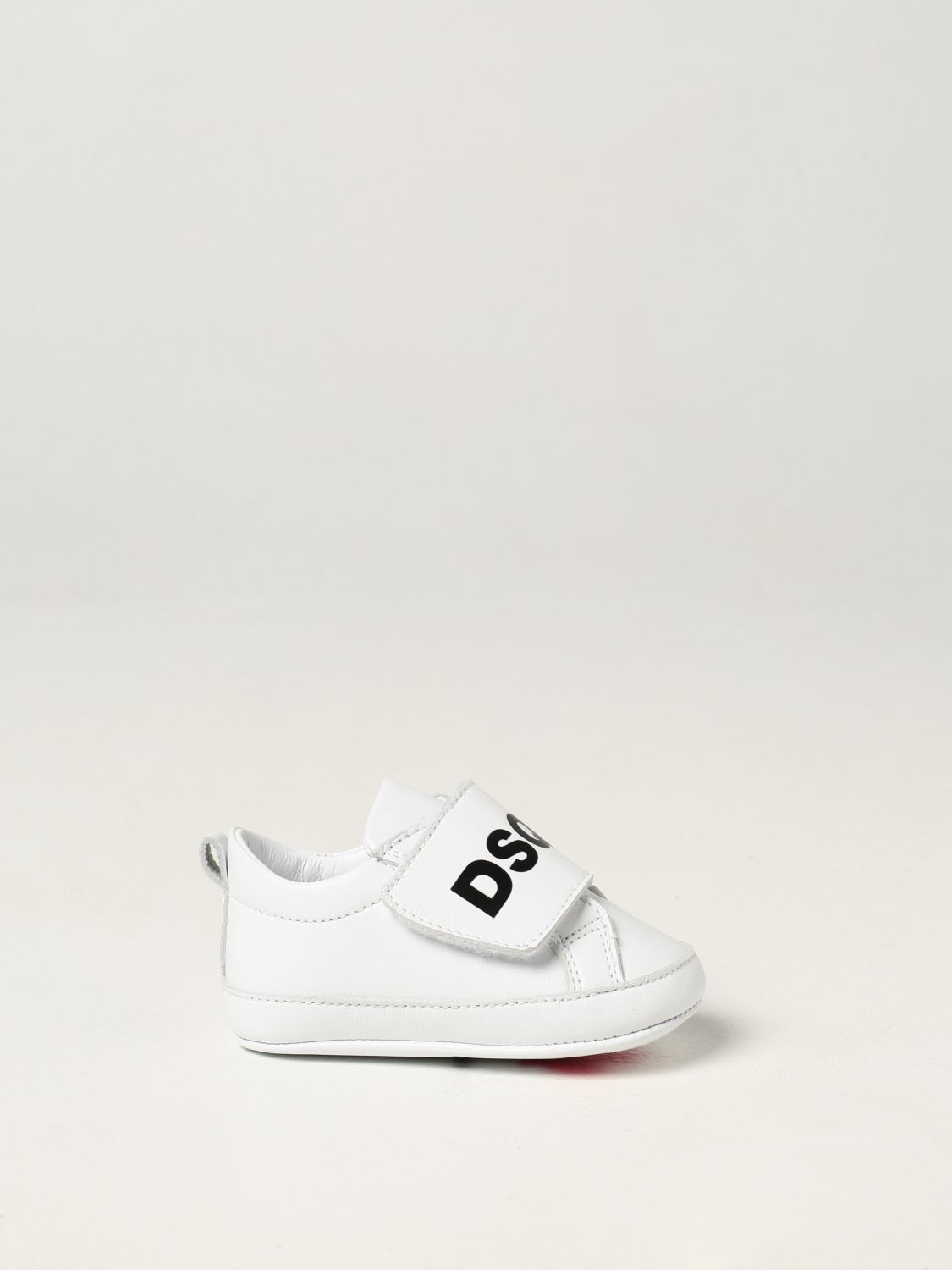 Shoes Dsquared2 Junior: Dsquared2 Junior leather sneakers white 1