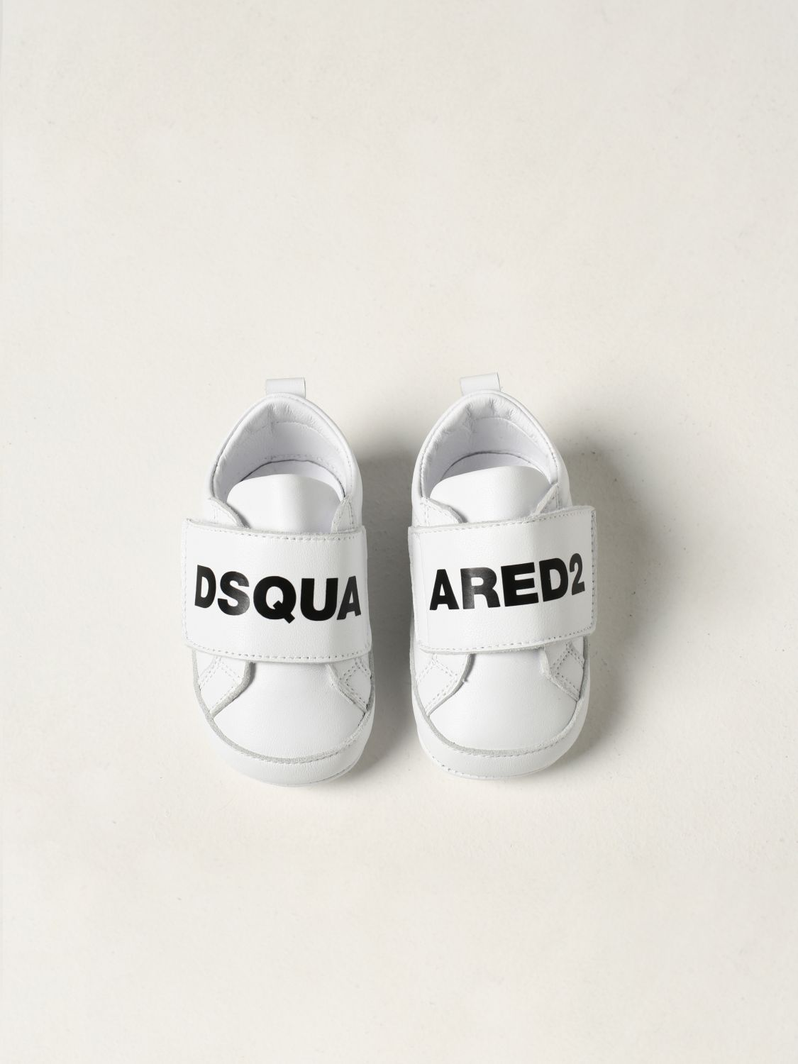 Shoes Dsquared2 Junior: Dsquared2 Junior leather sneakers white 4
