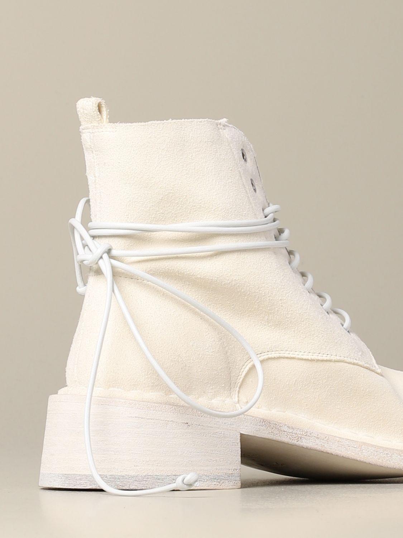 Polacchino Crespella Marsèll in camoscio bianco 5