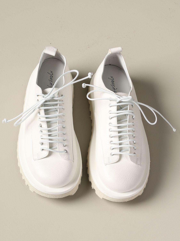 Marsèll Pomicella Derby in leather white 3